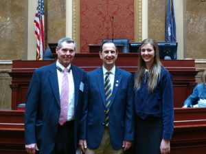 Rick Anderson and Andalyn Hall Visit the House Floor