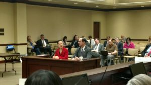 Dr. Bella Dinh-Zarr and Rep. Thurston presenting